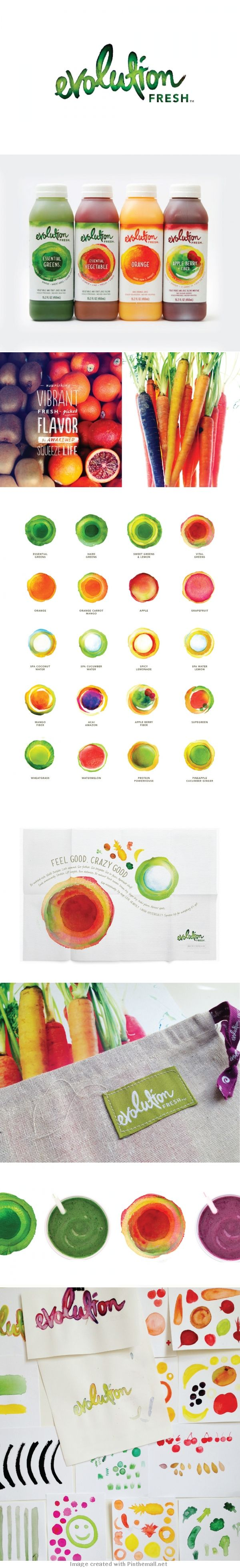 Evolution Fresh yummy fresh #juice #identity #packaging #branding PD