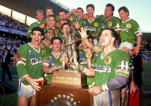 GREATEST CANBERRA RAIDERS MOMENTS: 1. Grand Final full time, 1989 The greatest ever Grand Final, and the first premiership for the Canberra Raiders. The joy amongst the team and in the national capital has not been equalled before or since. The incredible winning streak meant the Raiders were the first team from fourth or fifth to win the premiership, and the first team from outside Sydney to take the crown.
