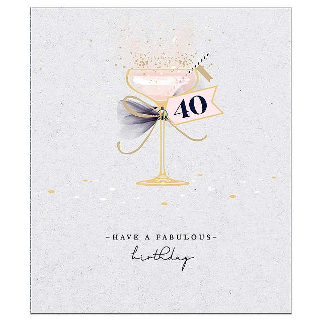 Uk Greetings Cocktail 40th Birthday Card 40th Birthday Cards Birthday Card Online 40th Birthday