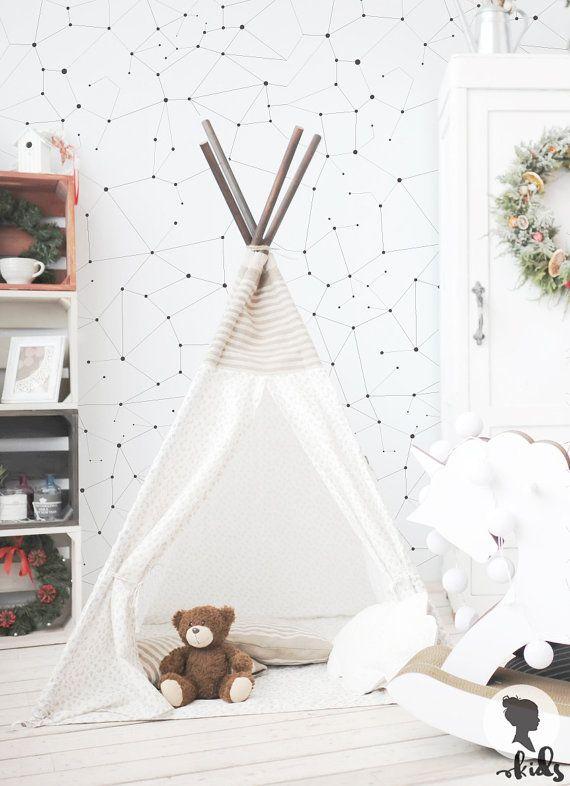BOLD et Constellations Chic modèle auto adhésive amovible fond décran ! Ajouter charme personnalisé dans votre chambre en quelques minutes ! :)