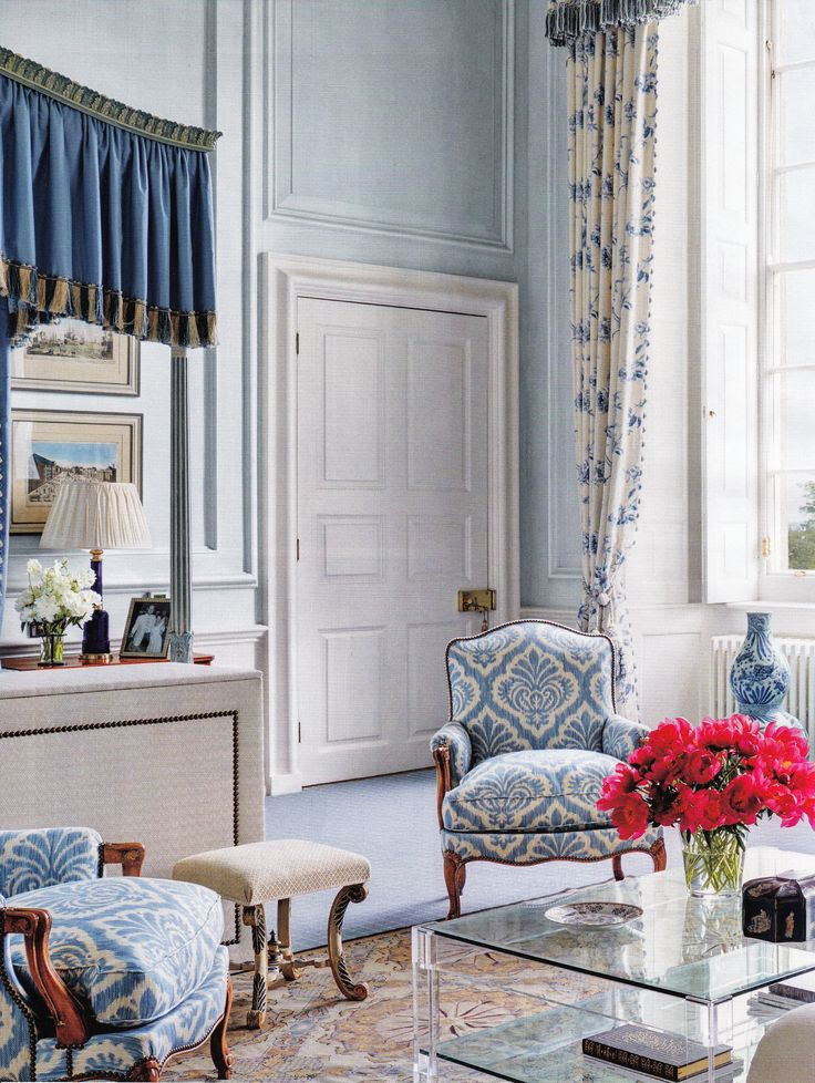 """Interior Designer Mark Gillette - English Country Estate Apartment """"Burley"""" published AD May 2014"""
