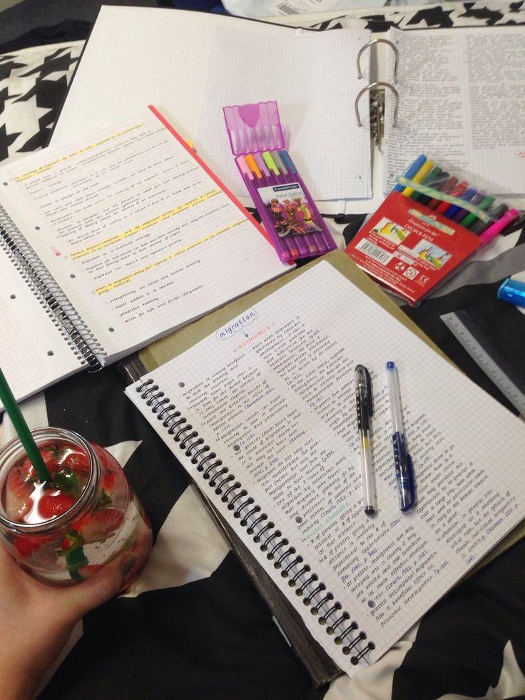 ||| student, school, notes, notespiration, inspo, inspiration, university, college, desk, study, botebook