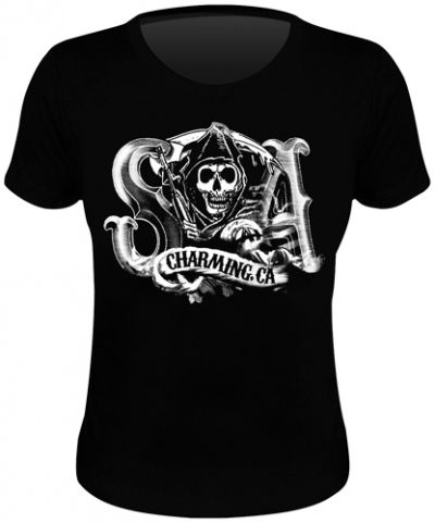 Tee Shirt Femme SONS OF ANARCHY - Charming Reaper - T-Shirts - www.rockagogo.com