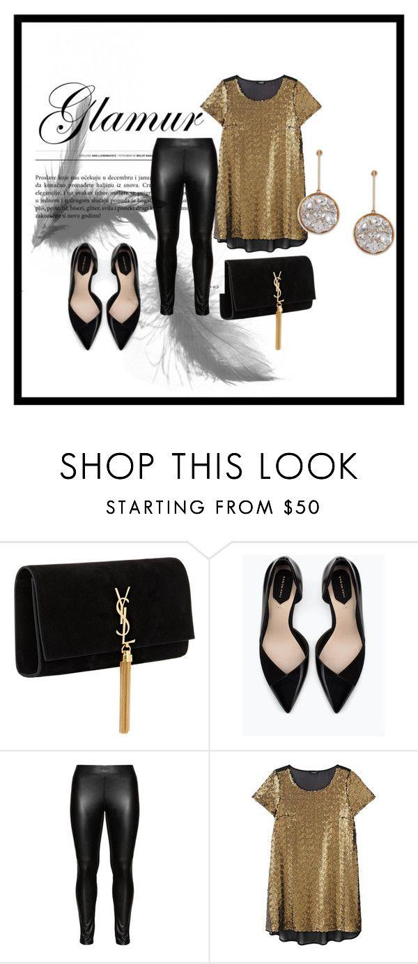 """Zara"" by heelsdotcom on Polyvore featuring Yves Saint Laurent, Zara, Studio, STELLA McCARTNEY and plus size clothing"