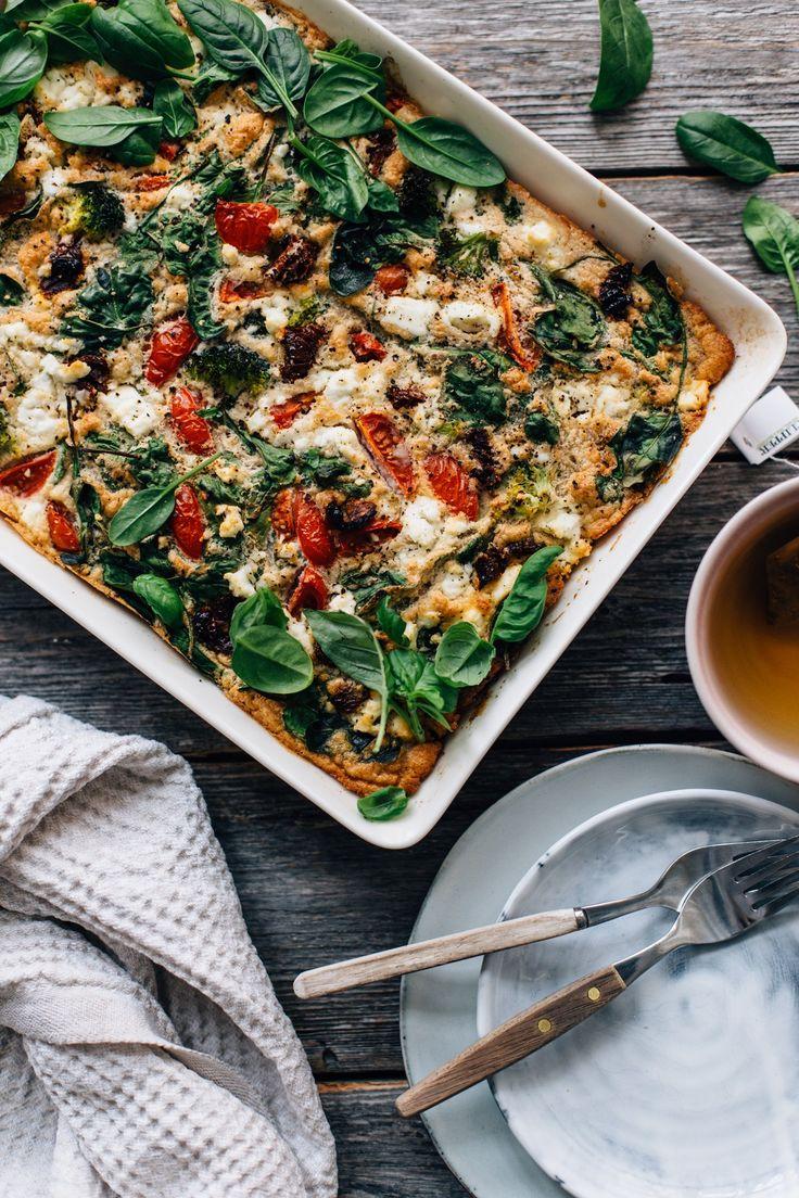 Savory Oven Pancake w/ Greens & Feta | tuulia blog
