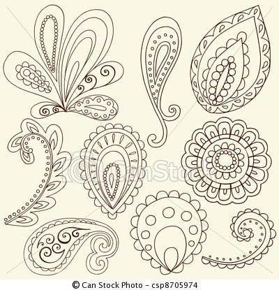 paisely tattoo pattern | paisley pattern for tattoo