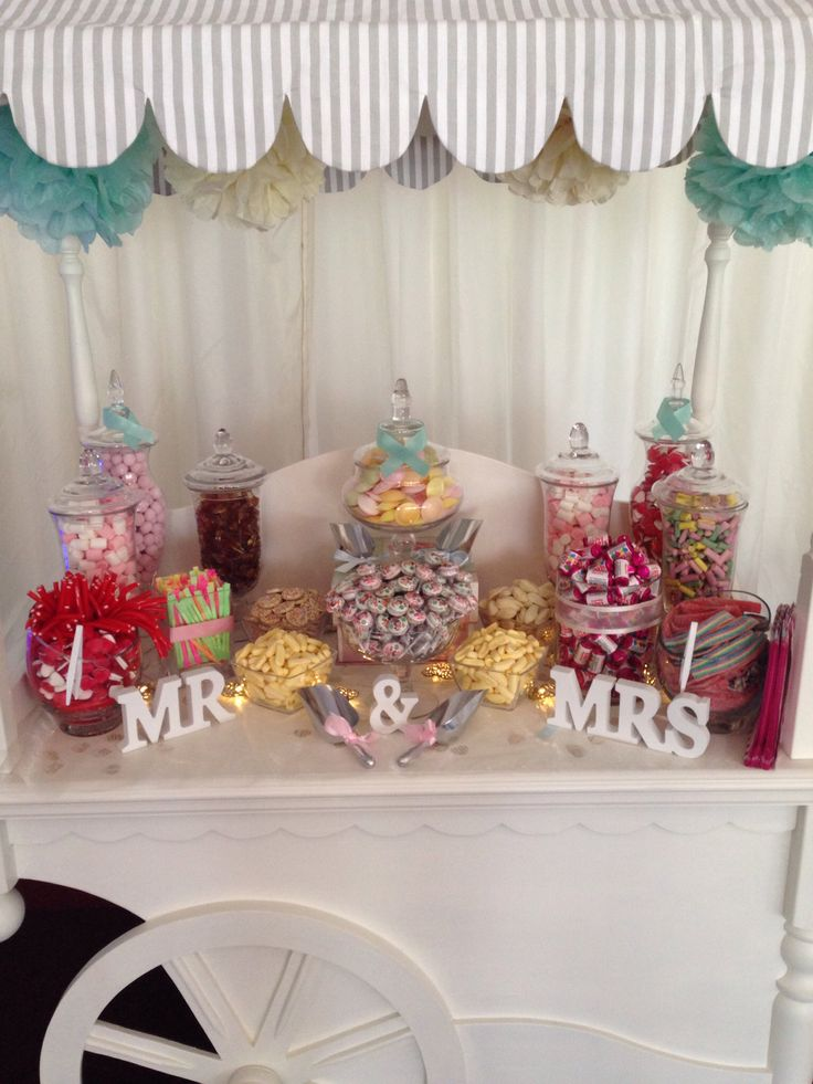 Close up of the Candy Cart I done for a wedding back in june!