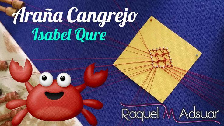 """Araña """"CANGREJO"""" (4 patas) by Isabel. Los Bolillotutoriales de Raquel M...."""