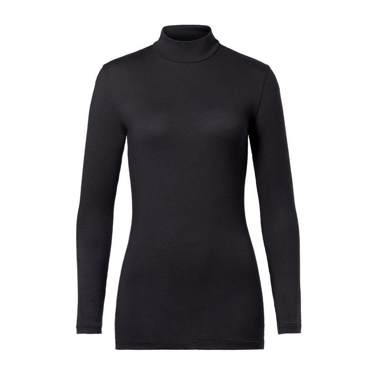 SLEEK L. SLEEVE This high neck beauty with long sleeves is a sleek foundation to casual looks. It is cut from semi-sheer modal-jersey that is super soft & elegant. This close fit style is long in the body, making it endlessly versatile and easy to style - ENJOY!