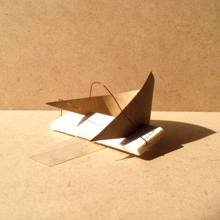 exercise five / model P: transparency film, balsa wood, brown paper and wire