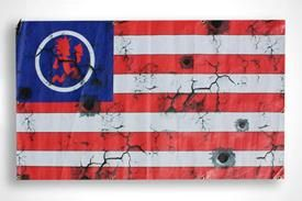 "AMERICAN PSYCHO TOUR FLAG  This extremely rare flag is one of about eight that were used as props during the American Psycho Tour with ICP, Twiztid, and Blaze. It measures 4'11"" wide by 3' tall and is in near mint condition. With grommets along the edges it makes this item easy to display anywhere and is sure to spark conversation with all who see it chillin' at your crib. This flag not only represents Psychopathic Records but also Juggalo Pride and is a rare reminder of one of the greatest…"