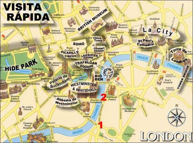 Plano del centro de Londres.