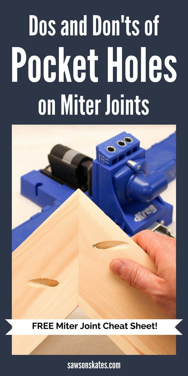 Projects like DIY furniture often require mitered corners, but drilling pocket holes on miter joints takes a little extra planning. This comprehensive tutorial shows three ideas about how to use a Kreg Jig for joining mitered corners using pocket holes.