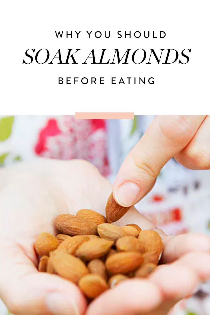 Here's Why You Should Soak Your Almonds in Water Before You Eat Them  via @PureWow