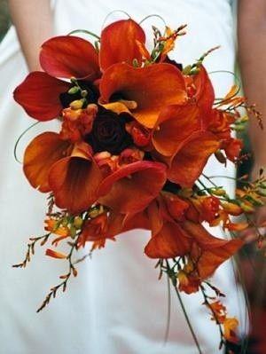 De mooiste voorbeelden voor oranje bruidsboeketten