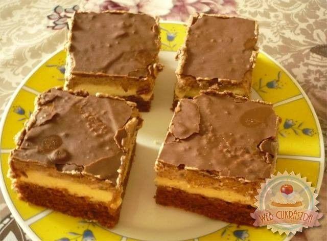 CAPPUCCINO SZELET RECEPT – Isteni finom és nagyon mutatós krémes sütemény