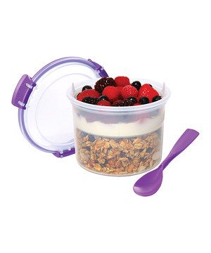 Look what I found on #zulily! Sistema Purple Two-Piece Breakfast-to-Go Container by Sistema #zulilyfinds