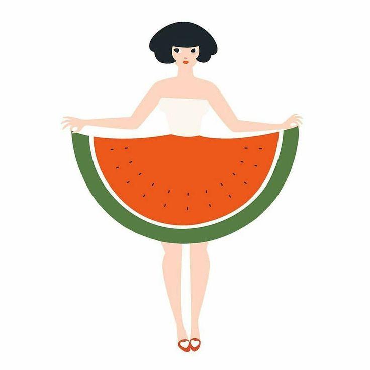 Watermelon skirt // Por @qian.shi by yorokobu