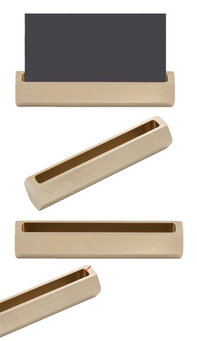 Brass Office Desk Stationery Organizer Iphone Smart Phone Holder Dock Business Card Displ Business Card Holder Display Desk Stationery Stationery Organization