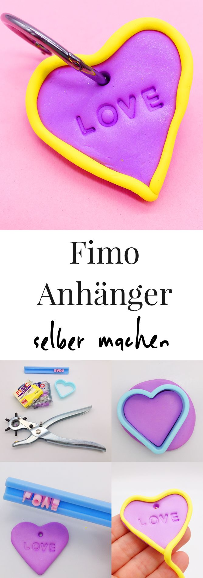 DIY Bastelideen mit Fimo. So einfach könnt Ihr Euch schöne DIY Ideen selber machen. Einfache Anleitung für das Basteln von Fimo Schmuck. Auch für Kinder geeignet.