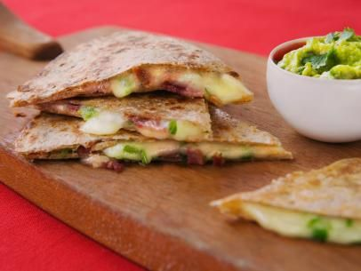Bacon Jack and Jalapeno Quesadillas: Food Network, Network Kitchen, Jalapeno Quesadillas, Jalapeño Quesadilla, Appetizer Recipes, Jack O'Connell, Healthy Appetizers, Turkey Bacon