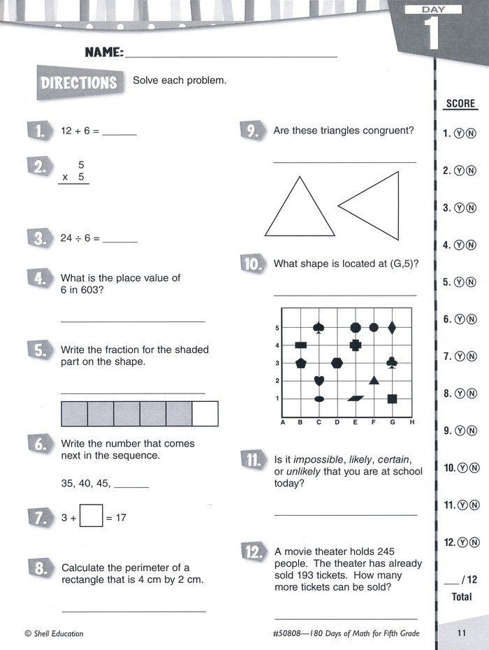 Abeka 5th Grade Math Worksheets Practice assess Diagnose ...