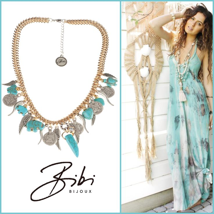 Our eye-catcher: Turquoise jewelry mixed with gold by #bibibijoux. Goldplated and adorned with Swarovski Crystals. Shop now: http://bibibijoux.com/index.php/bibibijouxwebstore/necklace/03617.html Also matchy items available! #bibi #bijoux #handmade #swarovski #sisters #lifestyle