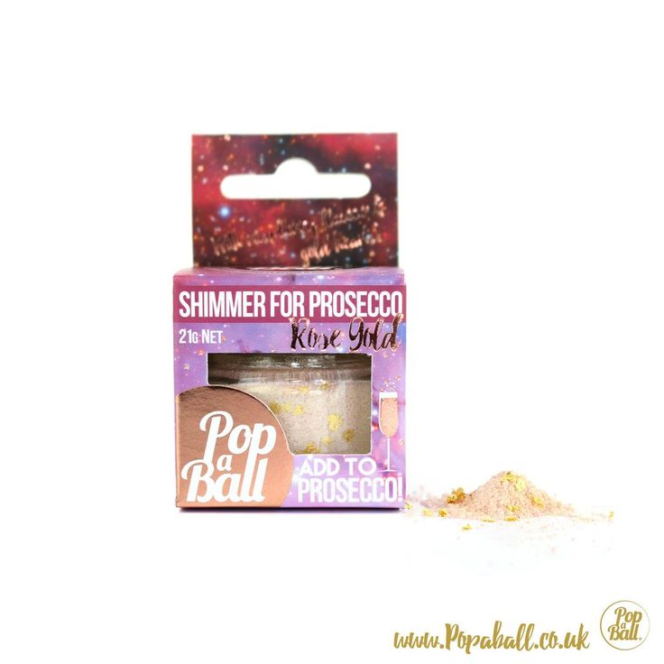 NEW SHIMMER FOR PROSECCO! Add raspberry shimmer powder with gold hearts to prosecco. Pimp your prosecco & make it prosecco shimmer! More prosecco gifts available
