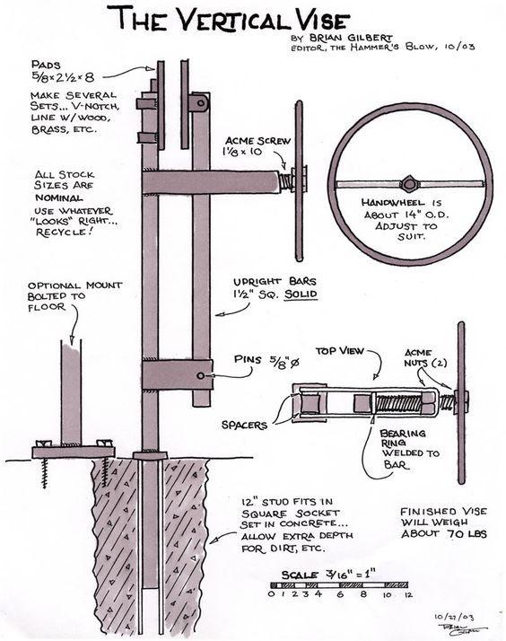 build a post vise: