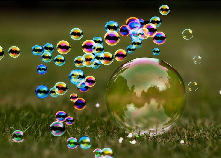 Beautiful soap bubbles