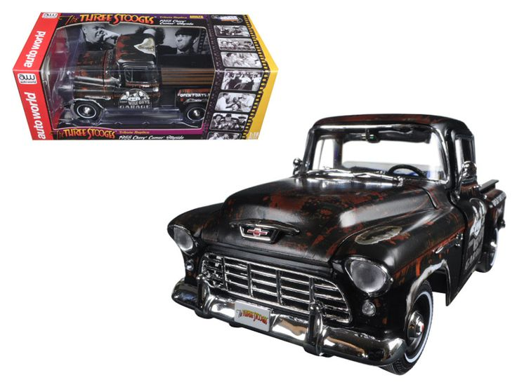 "1955 Chevrolet Stepside Pickup Truck ""The Three Stooges"" Tribute Limited Edition to 1002pcs 1/18 Diecast Model Car by Autoworld - Brand new 1:18 scale diecast model of 1955 Chevrolet Stepside Pickup Truck ""The Three Stooges"" Limited Edition to 1002pcs die cast model car by Autoworld. Limited Edition. The Three Stooges humor is timeless; they were - and remain - the best at what they did and what they did remains funny and entertaining with a broad appeal that is generational and global.The…"