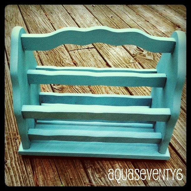 Magazine rack in Annie Sloan Provence