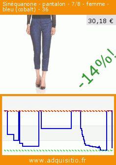 Sinéquanone - pantalon - 7/8 - femme - bleu (cobalt) - 36 (Vêtements). Réduction de 62%! Prix actuel 30,18 €, l'ancien prix était de 79,90 €. https://www.adquisitio.fr/sin%C3%A9quanone/pantalon-78-femme-bleu-1