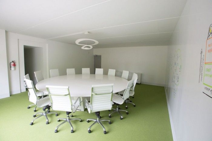 Frogs of the round table! Large board room with white board walls @ Treefrogs New Newmarket Offices