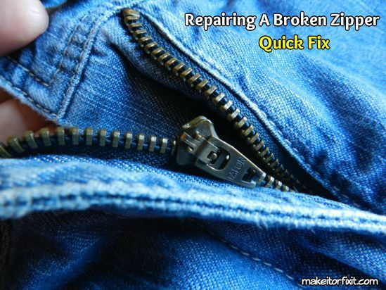How to Fix a Zipper That is Broken I really like this and now I don't need to throw out my jeans