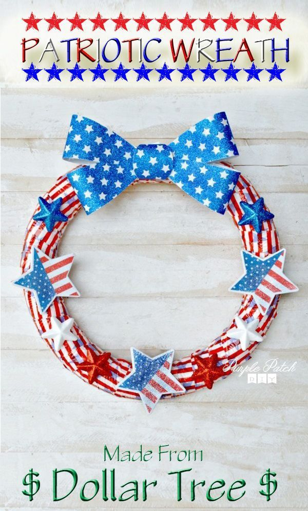 Fast And EASY Red White Blue USA Wreath