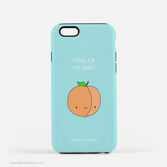 iPhone Case Cute Phone Cases Funny Gift For Friend Girlfriend Her Peach For The Stars Pun Good Luck Congratulations Gifts 5 5s 6 Plus 6s S6  Peach For The Stars...a fun gift for a friend, girlfriend, sister, niece, this cute phone case is perfect for saying congratulations or good luck on reaching an important milestone like graduation or landing a great new job! This funny case also makes a great birthday or Christmas gift and a sweet treat for yourself...add a smile and dose of…