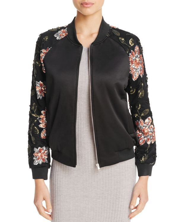 Endless Rose Floral Sequin Bomber Jacket - 100% Bloomingdale's Exclusive