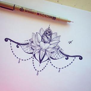 lotus mandala underboob tattoo - Google-haku                                                                                                                                                      Mehr