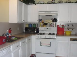 DIY Kitchen Updates On A Budget: How to Paint Kitchen Cabinets - Living on Love and Cents