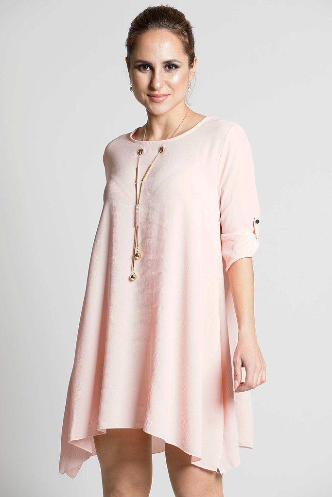 elisha chiffon tunic dress