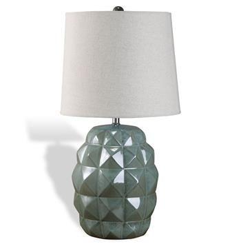 Terrapin Sage Frost Coastal Beach Style Ceramic Table Lamp $323