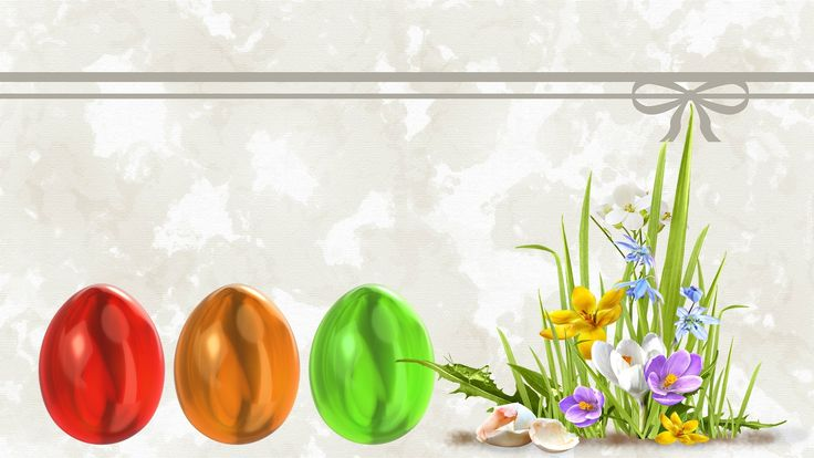Wielkanoc, Pisanki, Kwiaty, Kartka