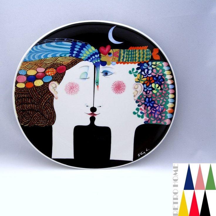 Art Plate Moonlight STIG Lindberg Gustavsberg Sweden 1970'S | eBay