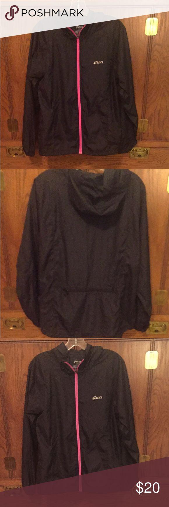 ❤️BLACK w/ HotPink Windbreaker Size Large by Oasis NWOT. 100% Polyester Oasis Jackets & Coats