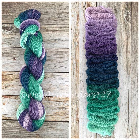 Lace Weight Yarn, Hand Dyed Yarn, Lace Yarn, Gradient Yarn