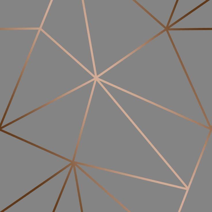 I Love Wallpaper Zara Shimmer Metallic Wallpaper Charcoal, Copper (ILW980112) - Wallpaper from I Love Wallpaper UK