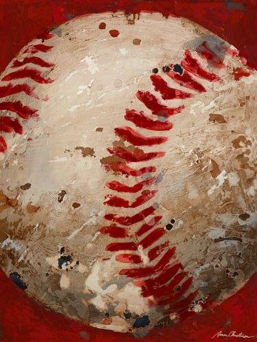 Vintage baseball art for a sports themed boys room