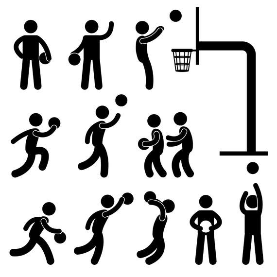 Basketball Svg Basketball Png Basketball Vector Basketball Player Stick Figure Basketball Court Silhouette Stickman Dribble Png Svg Vector In 2021 Stick Figure Drawing Pictogram Stick Figures