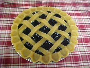 Yum! Blueberry pie...candles!  It looks just like the real thing.  Almost too good to burn...almost.  See more pies at http://facebook.com/candlechef